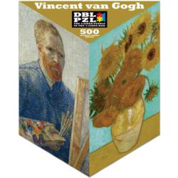 Vincent Van Gogh (Vertical) People Triangular Puzzle Box