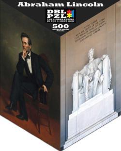 Abraham Lincoln United States Triangular Puzzle Box
