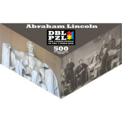 Abraham Lincoln History Triangular Puzzle Box