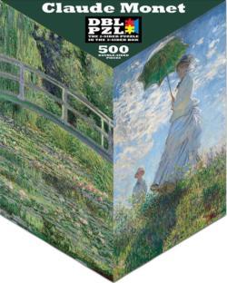 Claude Monet Lakes / Rivers / Streams Triangular Puzzle Box