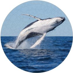 Humpback Whale Puzzle A-Round Fish Round Jigsaw Puzzle