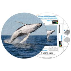 Humpback Whale Fish Round Jigsaw Puzzle