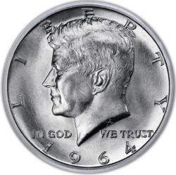 JFK Half Dollar MiniPix® Puzzle Currency Round Jigsaw Puzzle