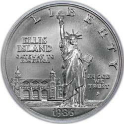 Statue Of Liberty Centennial Coin MiniPix® Puzzle Currency Round Jigsaw Puzzle