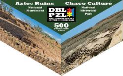 Aztec Ruins, Chaco Culture Landmarks / Monuments Triangular Puzzle Box