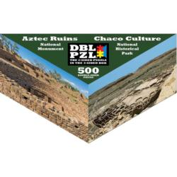 Aztec Ruins, Chaco Culture Landmarks / Monuments Triangular Puzzle Box
