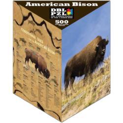 American Bison Animals Triangular Puzzle Box
