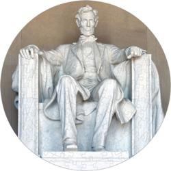 The Lincoln Memorial History Round Jigsaw Puzzle