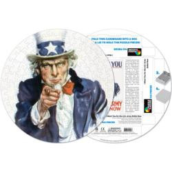 Uncle Sam United States Round Jigsaw Puzzle