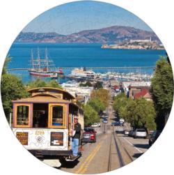 San Francisco Puzzle A•Round: San Francisco Round Jigsaw Puzzle