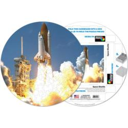 Space Shuttle Space Round Jigsaw Puzzle