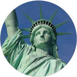 Statue of Liberty Statue of Liberty Round Jigsaw Puzzle
