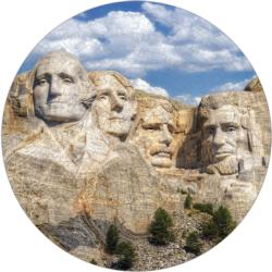 Mount Rushmore Puzzle A-Round United States Round Jigsaw Puzzle