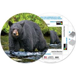 American Black Bear Wildlife Round Jigsaw Puzzle