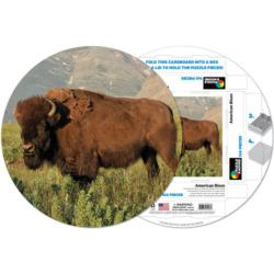 American Bison Wildlife Shaped