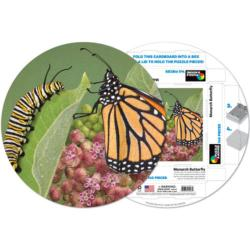 MONARCH BUTTERFLY Butterflies and Insects Round Jigsaw Puzzle