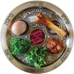 Seder Plate Food and Drink Round Jigsaw Puzzle