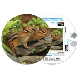 Chipmunks Other Animals Round Jigsaw Puzzle