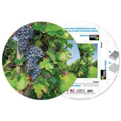 Grapes Food and Drink Round Jigsaw Puzzle