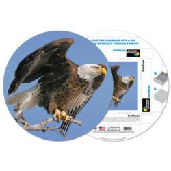 Bald Eagle Wildlife Round Jigsaw Puzzle