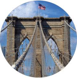Brooklyn Bridge Puzzle A•Round: Bridges Round Jigsaw Puzzle