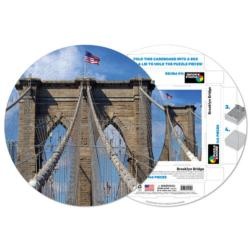 Brooklyn Bridge Bridges Round Jigsaw Puzzle