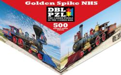 Golden Spike NHS Trains Triangular Puzzle Box