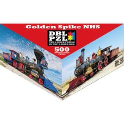 Golden Spike NHS Trains Triangular Puzzle Box