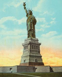 Statue of Liberty Vintage Image Statue of Liberty Jigsaw Puzzle
