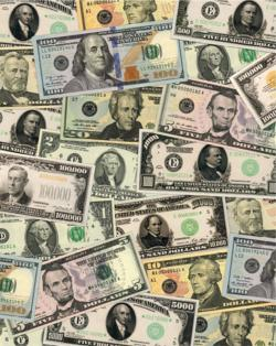 Banknotes of the United States Currency Jigsaw Puzzle