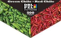 Green/Red Chiles DBL PZL® Puzzle Food and Drink Double Sided Puzzle
