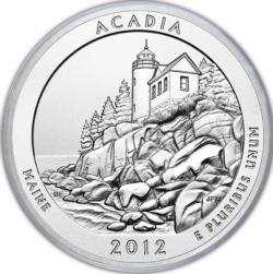Acadia National Park MiniPix® Puzzle National Parks Round Jigsaw Puzzle