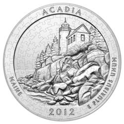 Acadia National Park (Mini) National Parks Round Jigsaw Puzzle