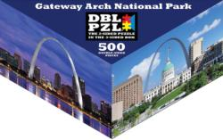 Gateway Arch National Park St. Louis Triangular Puzzle Box