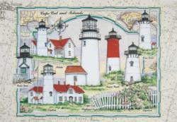 Cape Cod and the Island Lights Lighthouses Jigsaw Puzzle