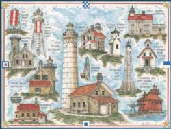 Door County Wisconsin Lighthouse - Scratch and Dent Lighthouses Jigsaw Puzzle