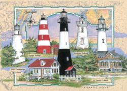 Georgia Lighthouse Lighthouses Jigsaw Puzzle