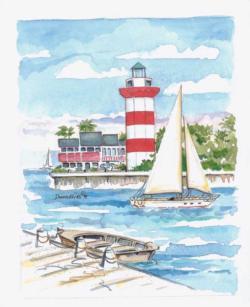 Hilton Head Island Lighthouses Jigsaw Puzzle
