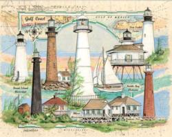 Lighthouses of the Gulf of Mexico Lighthouses Jigsaw Puzzle