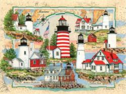 Lighthouses of Maine Lighthouses Jigsaw Puzzle