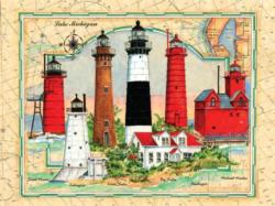 Lighthouses of Michigan Lighthouses Jigsaw Puzzle