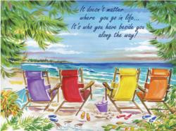 Front Row Seats Beach Jigsaw Puzzle