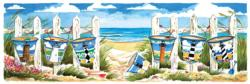 Carolina Beach Buckets Beach Panoramic Puzzle