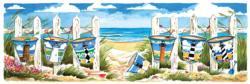 Carolina Beach Buckets Summer Panoramic Puzzle