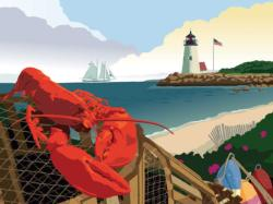 Lobster Harbor Beach Jigsaw Puzzle