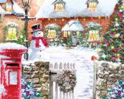 Christmas Cottage Cottage / Cabin Jigsaw Puzzle