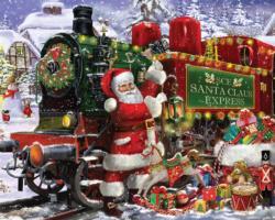 Santa Claus Express Snow Jigsaw Puzzle