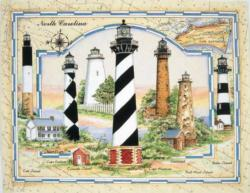 NC Coastal Lights Lighthouses Jigsaw Puzzle