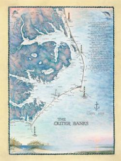 Outer Banks Waterways Maps / Geography Jigsaw Puzzle