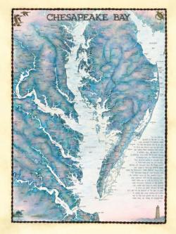 Chesapeake Bay Waterways Maps / Geography Jigsaw Puzzle